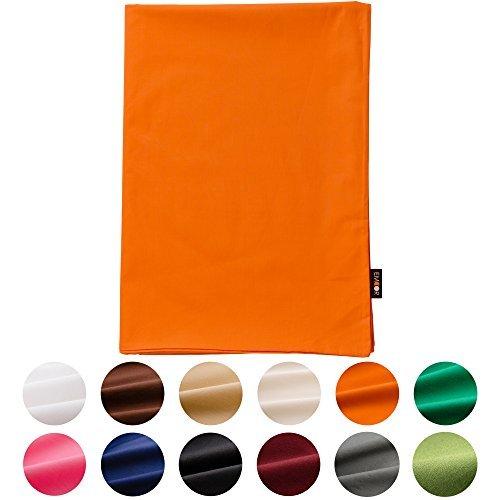 Emoor 100% Cotton cover for Traditional Japanese Floor futon Cotone PassionOrange Coppia