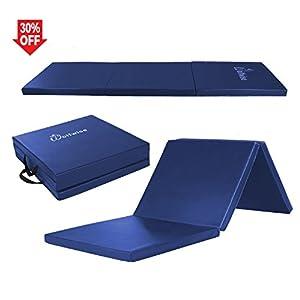 WolfWise 60 x 180 cm Weichbodenmatte, Klappbare Fitnessmatte Gymnastikmatte...