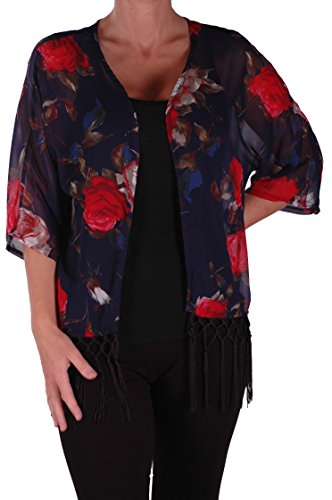 Eyecatch - Kimono a motif floral - Alice - Femme - Taille Unique Marine