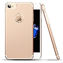 Cover iPhone 6s, Roybens Metallo Silicone 2 in 1 Ultra Sottile Antiurto Custodie Cover per Apple iPhone 6 / 6s, Oro [Gold], Rendere il vostro iPhone 6 o iPhone 6S assomiglia iPhone 7