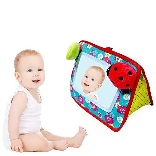 Todaytop Plüsch Spielzeug Kinderwagen Anhänger Baby verzerrt Spiegel Bett hängen Plüschtier Frühe Entwicklung pädagogische kognitiven Spiegel für Kleinkinder & Kinder Käfer Stil