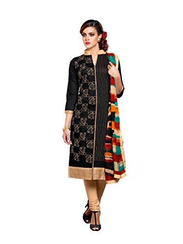 C&H Black Designer Semi-Stitched Salwar Suits