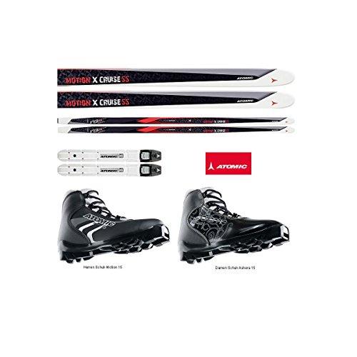 Atomic Nordic Cruiser Damen Langlaufset - Ski XCruise 55 + Schuhe + Bindung + Montage - Skilänge 173cm - Schuhgröße Damen 7.5 = 41 1/3
