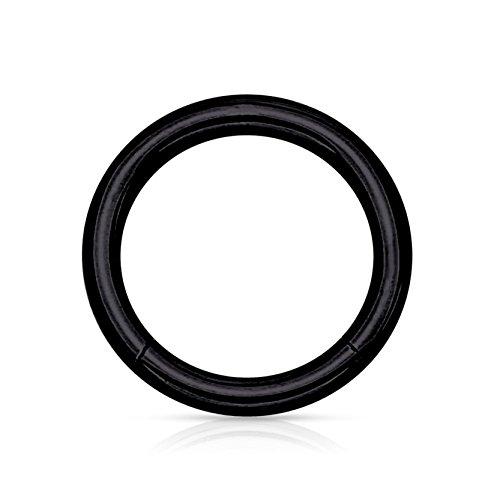 Donne uomini moda acciaio inossidabile corpo gioielli piercing naso anello cerchio nero 1,2 * 6mm