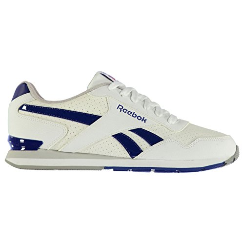 Reebok Glide Clip Leather Hommes Chaussures Baskets A Lacets Sneakers Sport White/Royal