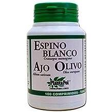 Espino Blanco, Ajo, Olivo 100 comprimidos de Plantapol