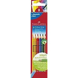 Faber-Castell 112406 - Farbstift Colour Grip Etui 6er