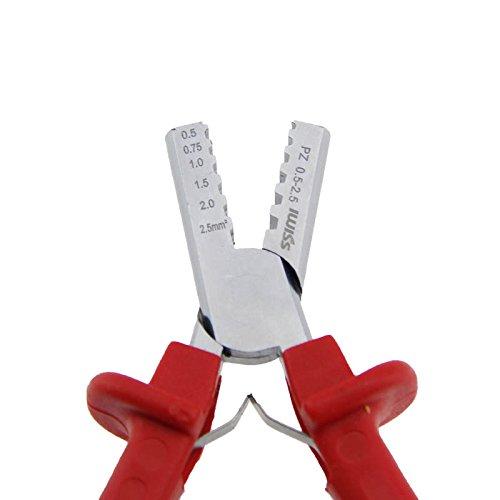 Hrph Mini Klein Ferrulen Werkzeug Crimper Zange zum Crimpen Aderendhülsen von 0.25-2.5mm2