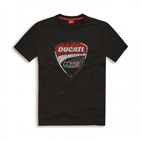 Ducati Corse T-Shirt Sketch schwarz Größe 2XL (Alex T-shirt Schwarz)