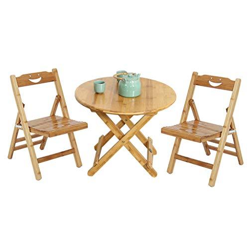 Bambus Set Klappstuhl (Wenhui 3 STÜCKE Bambus Stuhl Terrasse Chaise Lounge Stühle Outdoor Yard Pool Liege Klapp Lounge Tisch Stuhl Set Hinterhof Lounge Stühle)