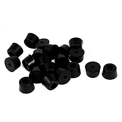 Visork Anti Vibration Pads Rubber Feet Pads Isolator Absorber Base Foot Pad For Washing Machines and Dryers 20 Pieces Black by Visork