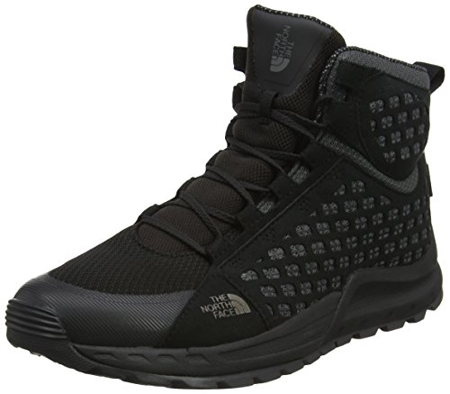 The North Face Herren Mountain Sneaker Mid Waterproof Trekking-& Wanderstiefel, Mehrfarbig (TNF Black/Smoked Pearl Grey), 42 EU (Running Shoes Face North)