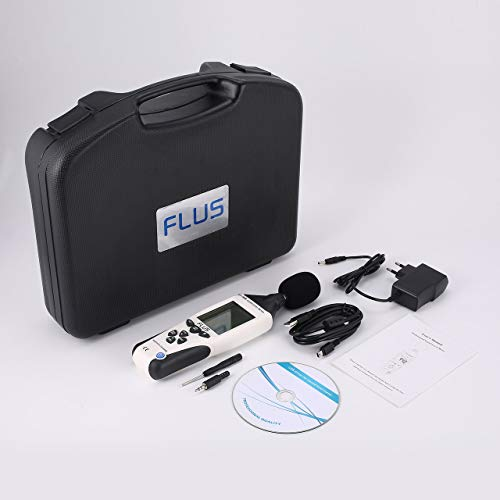 Prima05Sally FLUS ET-958 Digitales Schallpegelmessgerät Geräuschmessgerät Dezibel-Logger-Messung Audio-Detektor Lautstärke-Monitor 30-130 dB Handheld