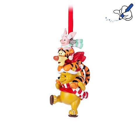 Weihnachtsdekoration Winnie Puuh zum Aufhängen, offizielles Disney-Design (Disney Chip Und Dale Kostüm)