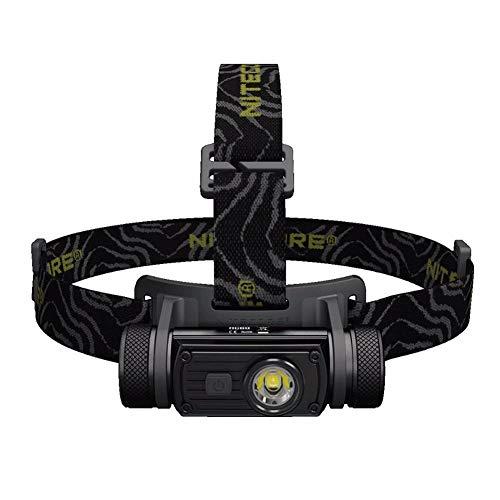 Nitecore HC60 LED-Stirnlampe, IPX-8, wasserdicht, 1000 Lumen, Wiederaufladbar per USB für Camping,Joggen, Spazieren und andere Outdoor Sport