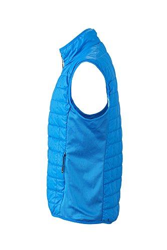 James & Nicholson Herren Hybrid Vest Outdoor Weste Blau (Cobalt/Silver)