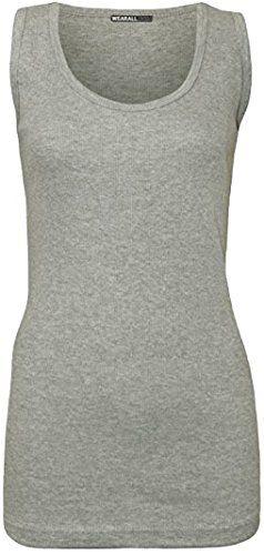 H&F Girls ® Damen Top XXXX-Large Gr. 48-50, grau