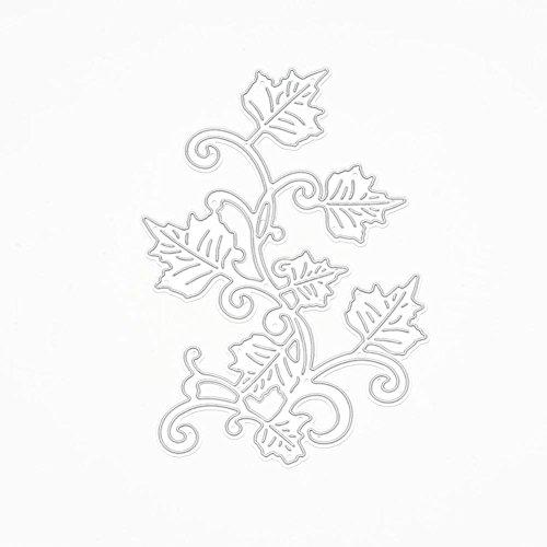 chengya Ahorn Blätter Metall schneiden stirbt Schablonen DIY Dekorieren Scrapbooking Karte (Ahorn-blätter-schablone)