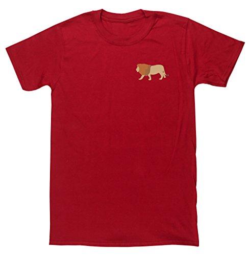 hippowarehouse-t-shirt-homme-rouge-
