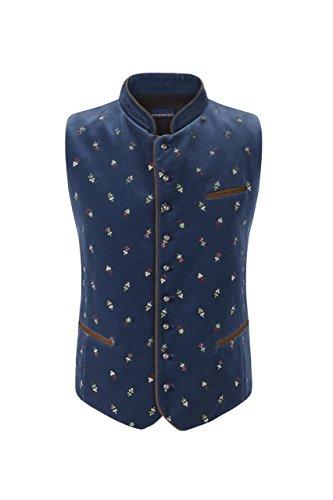 Stockerpoint - Herren Trachten Weste in verschiedenen Farbtönen, Calzado, Größe:58, Farbe:Rauchblau