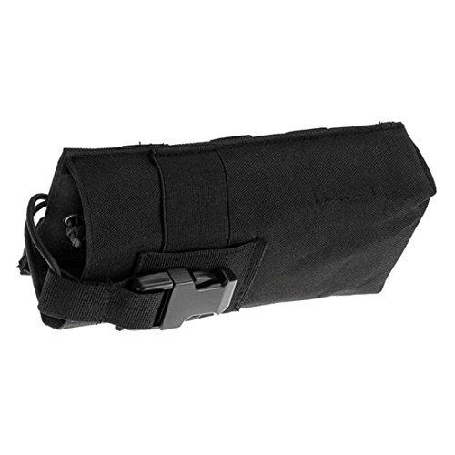 ruifu Outdoor Multifunktions Wasserkocher Tasche MOLLE Wasser Flasche Tasche 600D Tactical Hydration Schwarz
