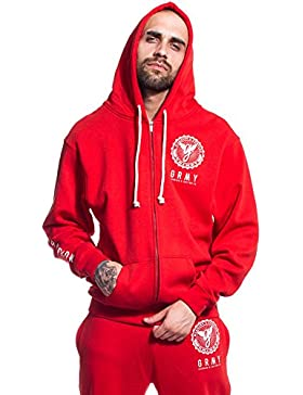 SUDADERA GRIMEY CORE ZIPPER HOODIE FW17 RED
