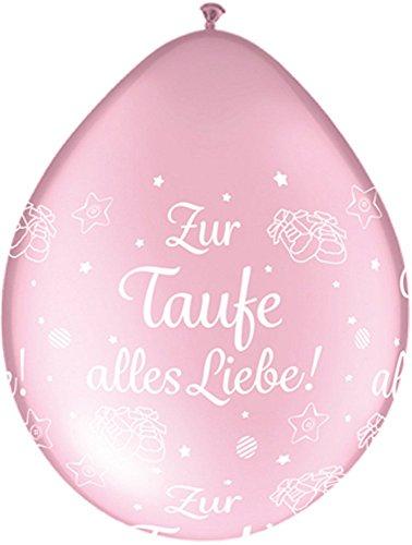 DeCoArt... 5 Latexballons Luftballons Neck Up Zur Taufe alles Liebe perl rosa ca 13 cm nicht ballongas geeignet