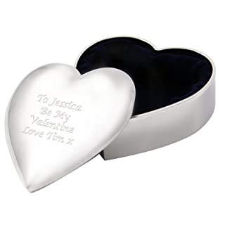 Heart Trinket Box Silver Plated