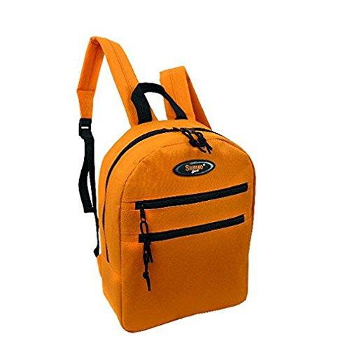 APC-NCC Lederwaren Damen Kleiner Rucksack Stefano, Blau (Jeans-Blau), 33.5 x 10 x 25 cm Orange (Orange)