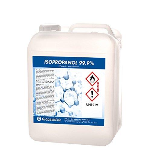 Isopropanol 99,9{8f2061a0b036b1dc580113b8ba5202937e0a702707ddd7a0985feae276450eef} 5 Liter Isopropylalkohol 2-Propanol Reinigungsmittel für Haushalt und Industrie Lösungsmittel und Fettlöser Lack- und Farb-Entferner Nagellack-Entferner Oberflächen-Reiniger