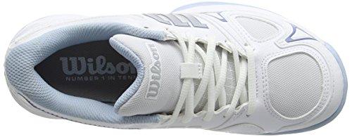 Wilson Damen Rush Evo Tennisschuhe Weiß (White/White/Cashmere Blue)