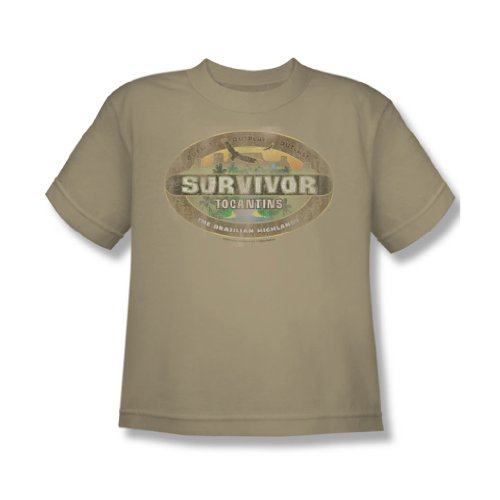 Cbs - Survivor / Tocantins Jugend Distressed T-Shirt im Sand, X-Large (18-20), Sand