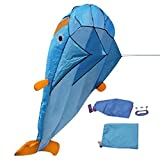 SunnydayIT Aquilone Dolphin 3D con Manico Line Stunt Paracadute Soft Parafoil Surfing Kite Sport Kite Enorme Grande attività all'aperto Flying Kite