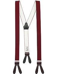 Bretelles de haute qualité pour Femmes / Hommes à boutonnière - Cuir véritbale - Fabriqué en Allemagne - Taille réglable jusqu'à 190cm