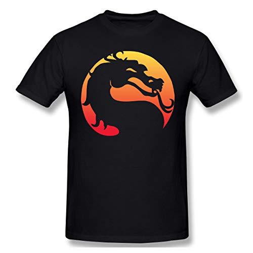 Mortal Kostüm Kombat Herren - Gifetee Mortal Kombat X Herren Komfortabel T Shirt Black 3XL