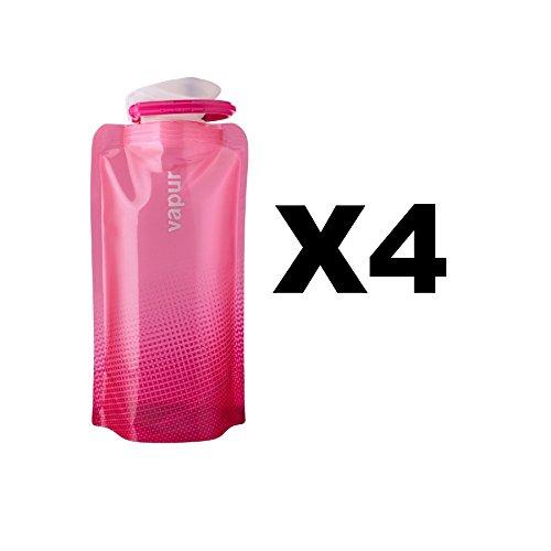 vapur-shades-18oz-water-bottle-pink-flexible-flask-anti-bottle-05l-4-pack