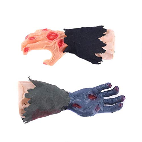 Recall-U Halloween Ghost Gloves Halloween dekorative Requisiten Walking Hand Geschenk Spukhaus geheimen Raum Layout elektrische Musik singen