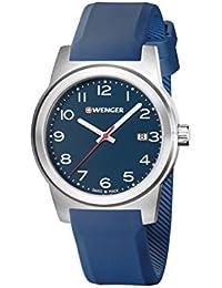 WENGER Herren-Armbanduhr SPORT DYNAMIC FIELD COLOR Analog Quarz Silikon 01.0441.152