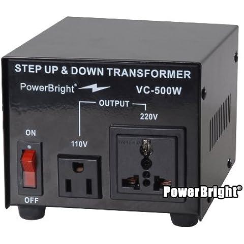Power Bright VC500W Voltage Transformer 500 Watt Step Up/Down converter