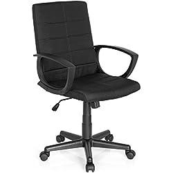 Bürostuhl STARTEC CL300, Stoff-Bezug, Schwarz, ergonomischer Schreibtisch-Stuhl mit festen Armlehnen, Büro-Drehstuhl zum Arbeiten und Relaxen im Home-Office, Büro-Sessel, Wipp-Mechanik, MyBuero 725302