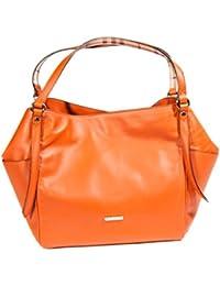 BURBERRY - Bolso de tela para mujer naranja naranja