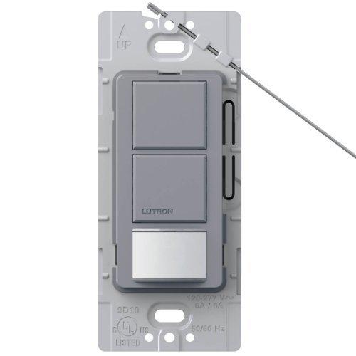 Lutron Lutron MS-OPS6-DDV-GR Maestro 6 Amp Single Pole Dual Circuit Occupancy Sensing Switch, Gray by Lutron (Single Pole Dual Switch)