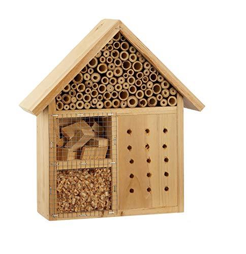 Unbekannt 1 x Insektenhotel Deluxe Holz Höhe 29 cm, Wunschmodell:rechts - Deluxe-holz