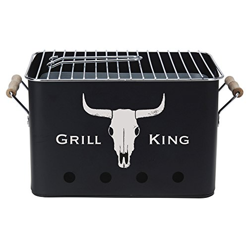BBQ Grill King |mobiler Barbecue Mini Holzkohle-Grill |Picknickgrill Campinggrill Reisegrill