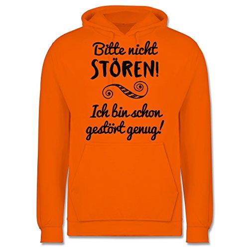 Sprüche - Bitte nicht stören! - Herren Hoodie Orange