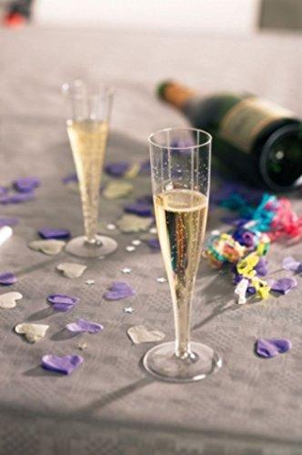 (24x Champagner Flöten 135ml Kunststoff-Gläser Party wiederverwendbar & Einweg–Ideal für Hochzeiten, Partys, Silvester Feiern.)