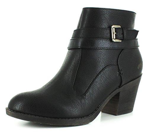 <span class='b_prefix'></span> Rocket Dog New Ladies/Womens Black Sessions Block Heels Ankle Boots. - Black - UK Sizes 3-8