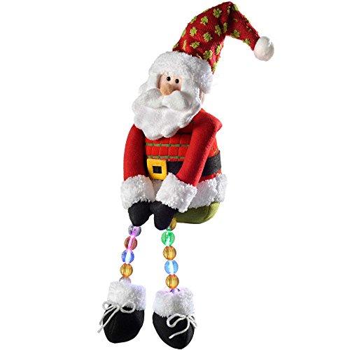 Babbo Natale 50.Werchristmas Decorazione Natalizia A Forma Di Babbo Natale 50 Cm Con Luci Led
