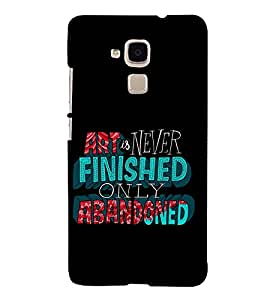 PrintVisa Nice Saying 3D Hard Polycarbonate Designer Back Case Cover for Huawei Honor 5c :: Huawei Honor 7 Lite :: Huawei Honor 5c GT3