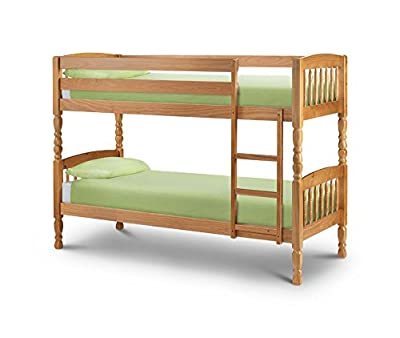 Happy Beds Lincoln Bunk Bed Solid Pine Wood Two Sleeper 2x Mattress Furniture